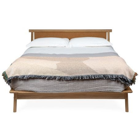 Eden King Size Bed Tan Leather