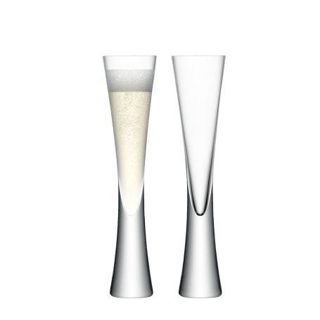Moya Champagne Flute Clear Set Of 2