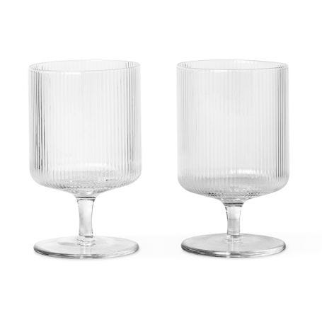 Ripple Clear Wine Glass Set of 2