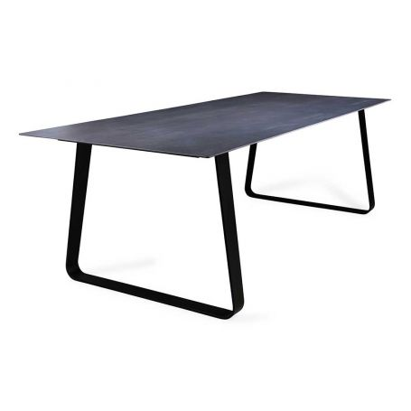 Vilna Dining Table Grey Anthracite Top