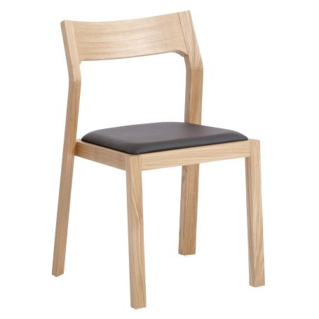 Profile Chair in Oak with Brown Leather