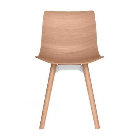 Loku Chair in Oak - Front View
