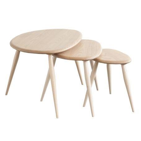As Shown: Originals Nest of Tables Matt Clear Ash