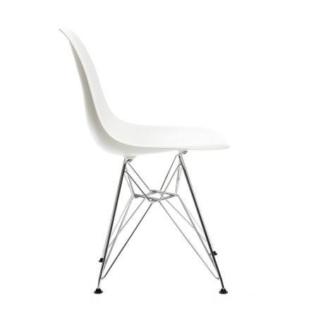 Eames DSR Chair New Height White Chrome
