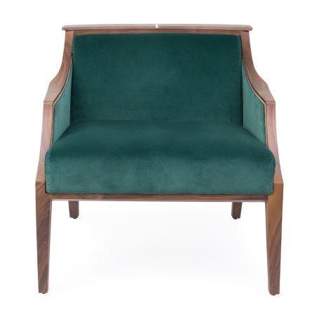 Liala Easy Chair Walnut Velvet