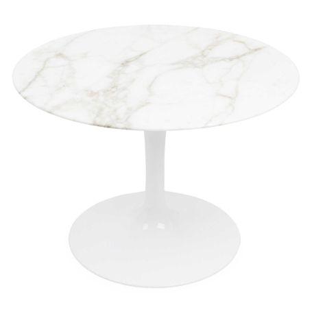 Saarinen Tulip Round Side Table Calacatta Marble Small