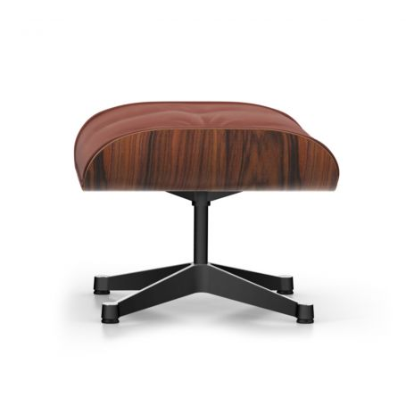 Classic Eames Lounge Ottoman in Santos Palisander & Brandy Leather