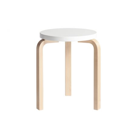 Stool 60 in White - Front View