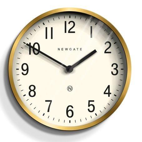 Master Edwards Wall Clock Brass