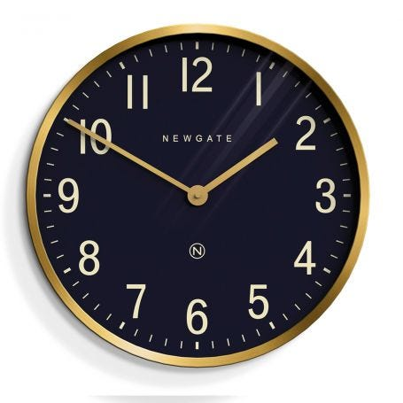 Mr Edwards Wall Clock Brass