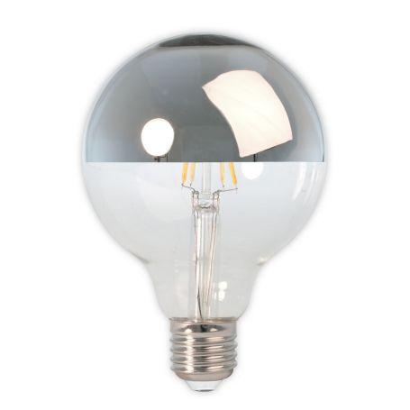 LED Filament Top Mirror Globe Chrome Bulb 4W E27