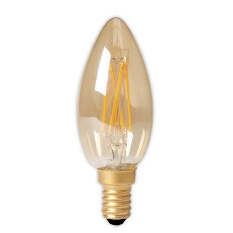 Candle LED Filament E14 Bulb Gold 3.5W