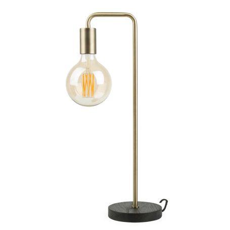 Junction Table Lamp Walnut Base Brass