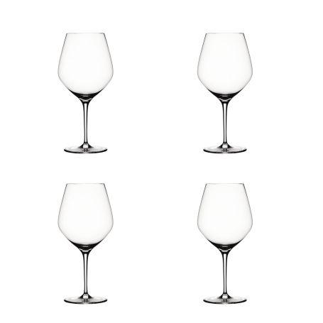Authentis Burgundy Wine Glasses Set of 4