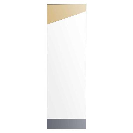 Deflect Leaner Mirror Brass