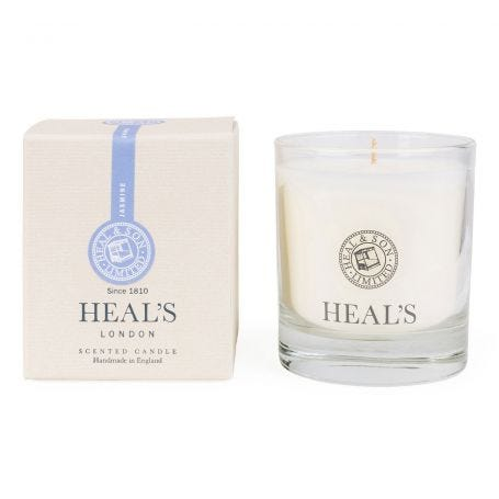 Jasmine Scented Glass Candle