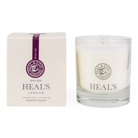 Wild Fig Scented Glass Candle