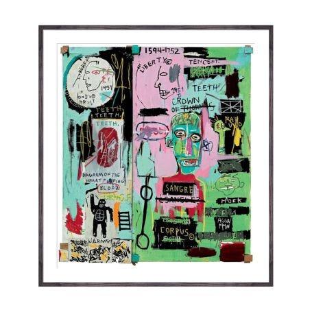 Jean-Michel Basquiat - In Italian 1983 framed print