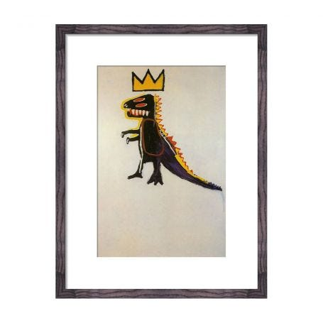 Jean Michel Basquiat Pez Dispenser 1984 framed print