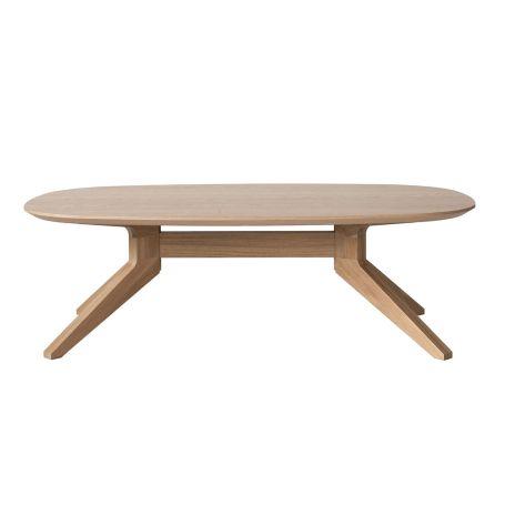 Cross Oak Oval Coffee Table