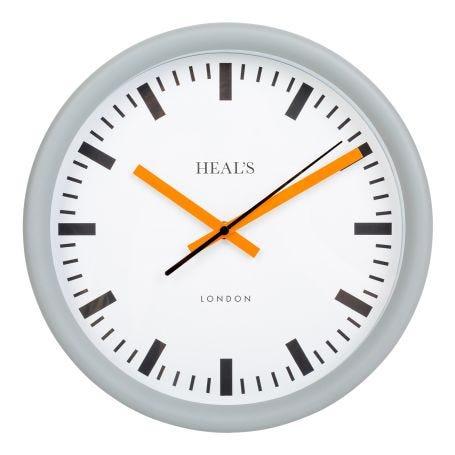 Heal's Grey & Orange Wall Clock
