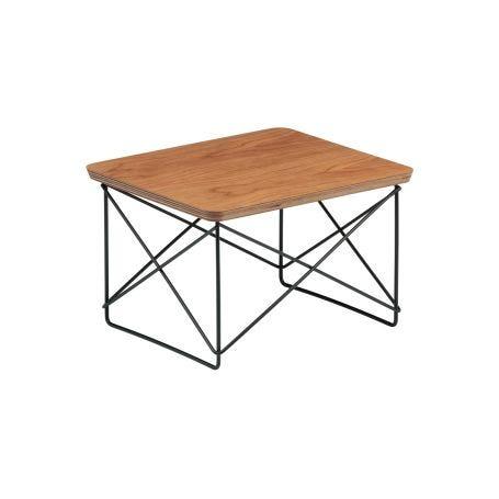 Eames Occasional Table LTR American Cherry Veneer Basic Dark Base