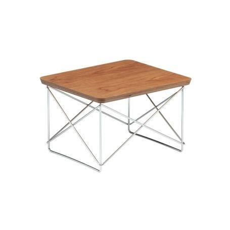 Eames Occasional Table LTR American Cherry Veneer Chrome Base