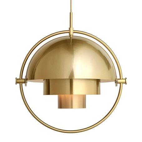Multi-Lite Pendant Light Brass Frame