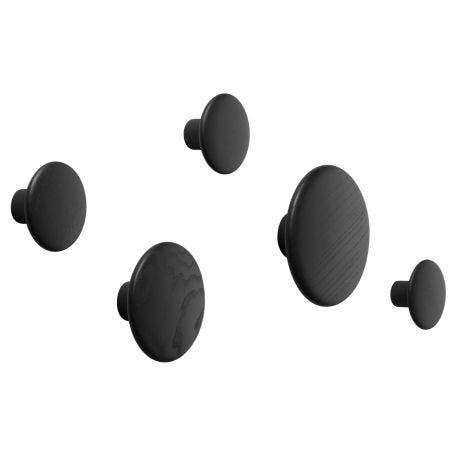 The Dots Set of 5 Coat Hooks