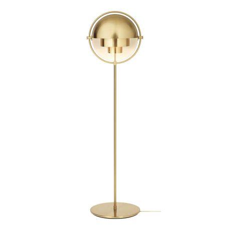 Multi Lite Floor Lamp Brass Base