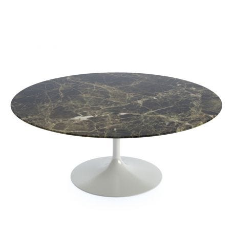 Saarinen Tulip Round Coffee Table Emperador Coated Marble Extra-Large