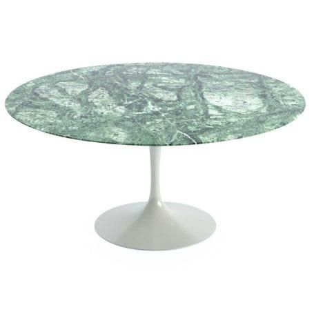 Saarinen Tulip Round Dining Table Verdi Alpi Marble Large