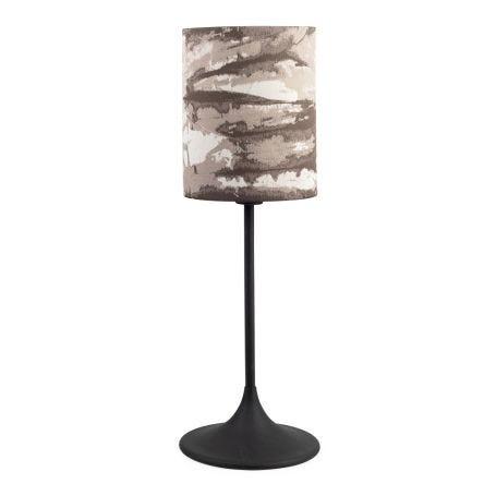 Flute Table Lamp Base Black