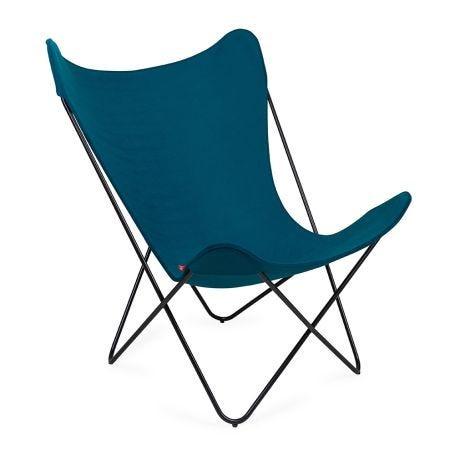 Butterfly Chair Petrol Blue Black Base