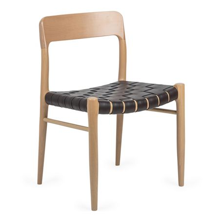 Oliver Chair Brown Leather