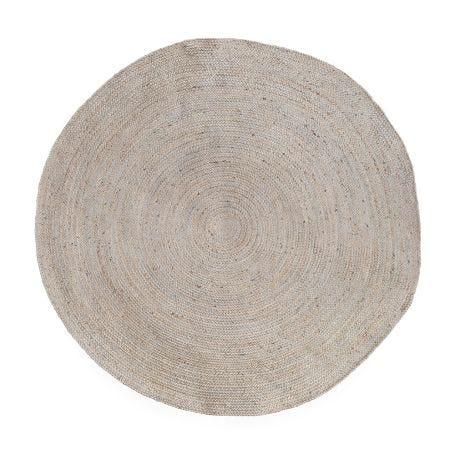 Jute Braided Round Rug Ivory 160cm