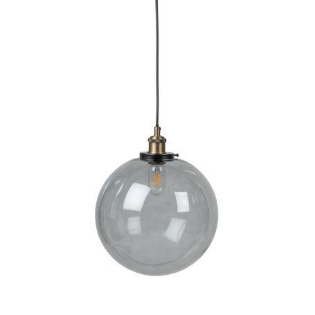 Olson Globe Glass Pendant Smoke Large