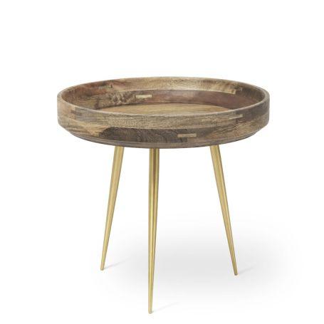 Bowl Table Brass Leg Small