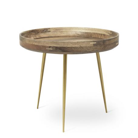 Bowl Table Large Brass Legs