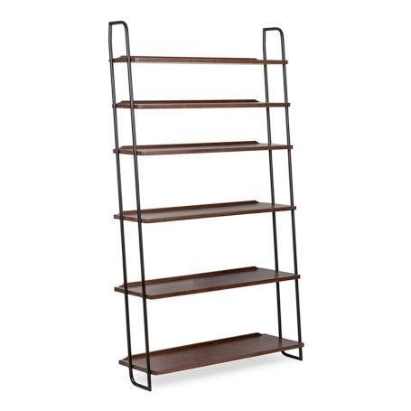 Brunel Lean To Shelves Dark Wood