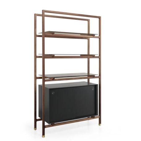Float Bookshelf & Cabinet Walnut