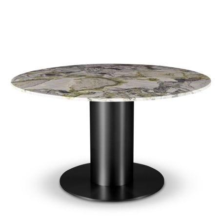 Tube Dining Table Black & Primavera Marble