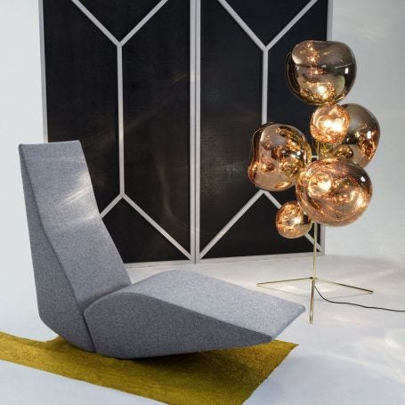 Melt Floor Lamp Chandelier Gold