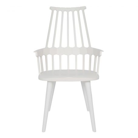 Comback Chair in White - Front View