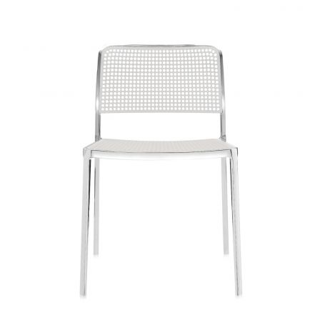 Audrey Side Chair in White - Front View