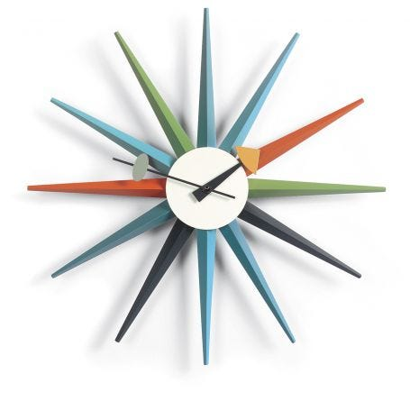 Sunburst Multi Wall Clock