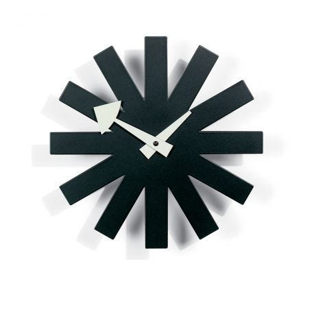 Asterisk Black Wall Clock