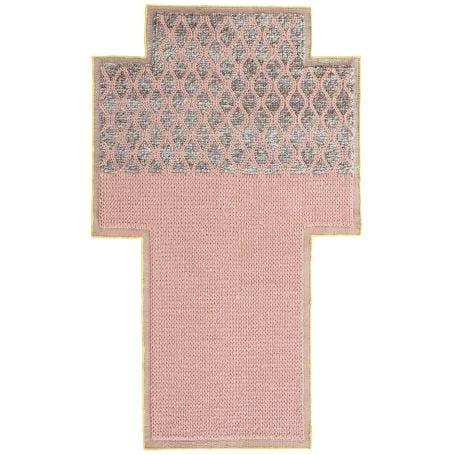 Mangas Rhombus Rug Pink