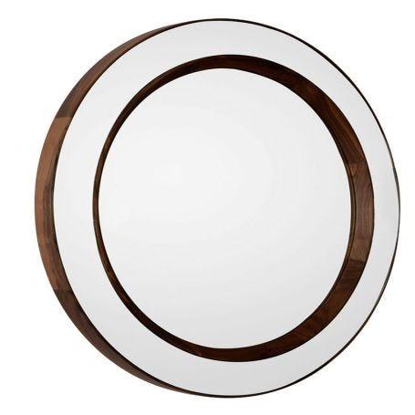 Tondo Round Walnut Mirror