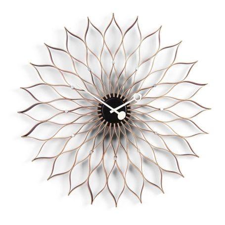 Sunflower Birch Wall Clock